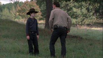 Carl e Rick in The Walking Dead