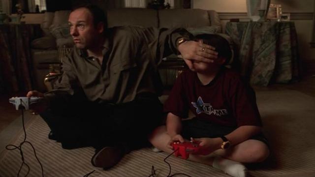 Tony Soprano ed Anthony Jr.