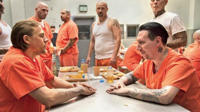 Marilyn Manson sul set di Sons of Anarchy