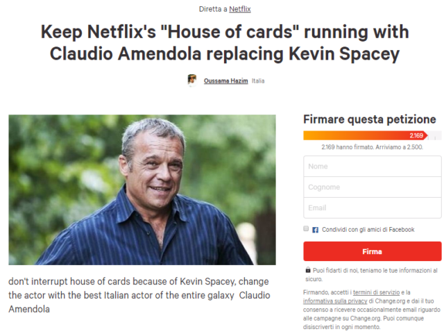 house of cards amendola