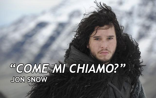 Citazione Jon Snow