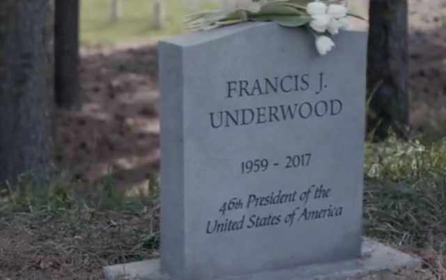 house of cards tomba frank underwood