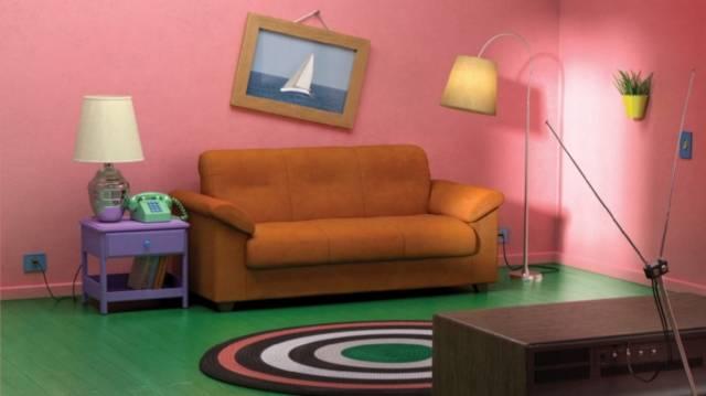 I Simpson - salotto Ikea