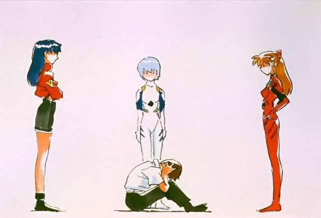 Misato-Rei-Asuka-e-Shinji