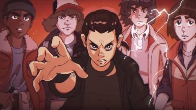 Stranger Things - versione anime anni '80