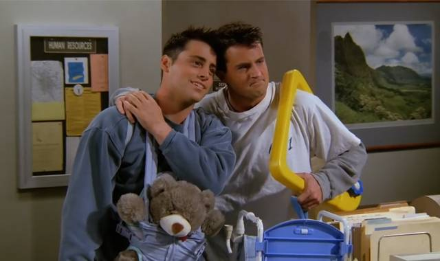Joey e Chandler friends