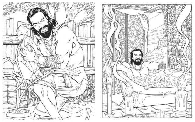 Game Of Thrones Arriva Il Libro Anti Stress Per Colorare Jason Momoa